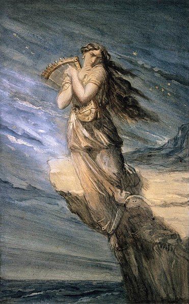 Archivo:Chassériau, Théodore - Sappho Leaping into the Sea from the Leucadian Promontory - c. 1840.jpg