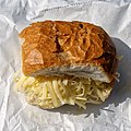 Cheese roll at The Original Tea Hut at High Beach, Essex, England.jpg