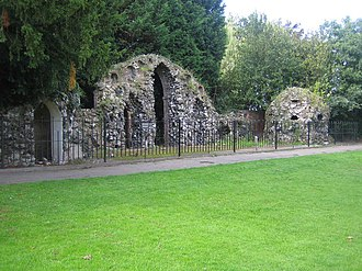De Vere Theobalds Estate - Ruins of walls and entranceways are all that remain today of the former Theobalds Palace.