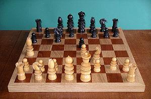 Staunton chess set - A St. George-style set