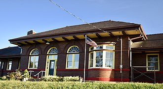 National Register of Historic Places listings in Montgomery County, Iowa - Image: Chicago, Burlington Northern And Quincy Depot