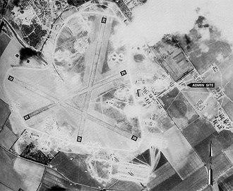 RAF Chilbolton - Aerial Photo of Chilbolton Airfield - 20 April 1944
