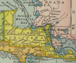 Chippewa County, Michigan - Chippewa County, Michigan from 1904 Michigan County Maps