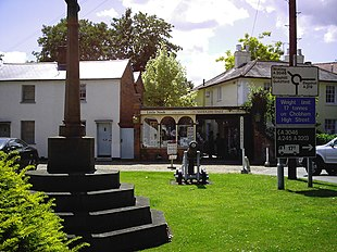 Chobham war memorial and cannon