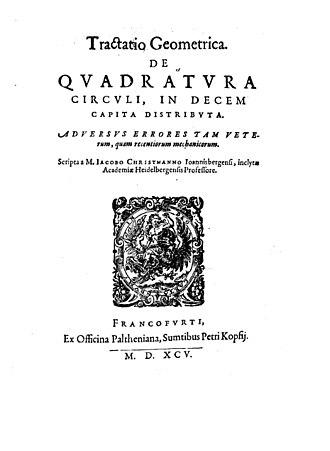 Jakob Christmann - Tractatio geometrica de quadratura circuli, 1595