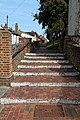 Church of St Nicholas, Ash-with-Westmarsh, Kent - churchyard steps.jpg