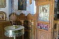 Church of Zoodochos Pigi, Anafi, interior, icon of Panagia Kalamiotissa, 17M1346.jpg