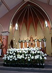 Church of the Sacred Heart (Coshocton, Ohio) - sanctuary with Easter decoration.JPG