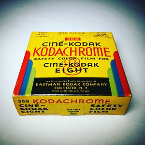 8 mm film - Ciné-Kodak Kodachrome 8mm movie film (expired: May 1946).