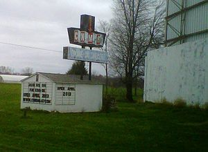 Spencer, Indiana - The Cinema 67 Drive-in theatre near Spencer, IN