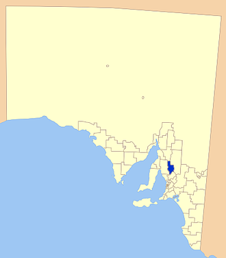 Clare and Gilbert Valleys Council - Location of Clare and Gilbert Valleys Council