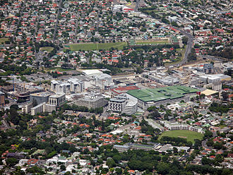 Claremont, Cape Town - Aerial view of the Claremont Central business district