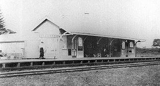 Cleveland railway line - The original Cleveland station in 1890