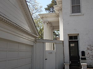 Clifton (Davenport, Iowa) - The portico on the south side of the house.