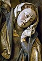 Closeup of a mourner in The Lamentation originally part of an altarpiece at the Benedictine monastery at Sopetran, northeast of Madrid, Spain 1480 CE (16062773141).jpg