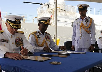 Bangladesh Navy - BN Chief of Staff VA. Farid Habib with Vice Adm. Paul F. Zukunft, Pacific Area commander