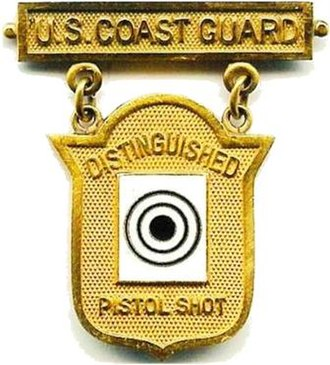 Awards and decorations of the United States Coast Guard - Image: Coast Guard Distinguished Pistol Shot Badge