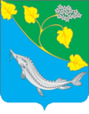 Coat of arms of Leninsky district 2005 01.png