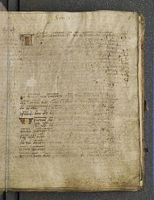 First page of the codex with lacunae in Romans 1:1-4