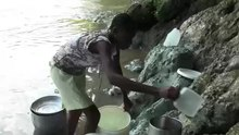 File:Collecting Unsafe Water in Haiti - Clip of the Day.webm