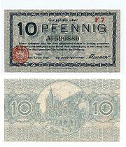Cologne WWI Notgeld Banknote 10 Pfg 1918 I