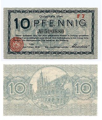 Akzidenz-Grotesk - A German banknote from 1918, showing Akzidenz-Grotesk or a similar design.