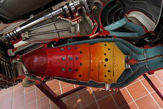 Combustor - Combustor on a Rolls-Royce Nene turbojet