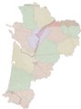 Communes, languages and dialects of Nouvelle-Aquitaine blank.png
