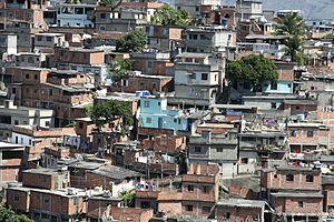 Social issues in Brazil - Precarious houses in the favela of Complexo do Alemão in Rio de Janeiro.