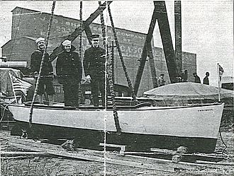 Concrete ship - Concrete boat constructed by Walter Dowsey hauled out in Chicago