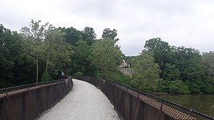 Westmoreland Heritage Trail - The WHT crosses over the Conemaugh River and under Rt 981 in Loyalhanna Township, PA