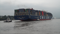 Container ship CMA CGM Jules Verne income Hamburg on 12 June 2013.png