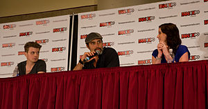 Continuum (TV series) - The main cast of the show at Fan Expo Canada. From left: Erik Knudsen, Victor Webster and Rachel Nichols