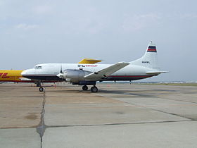 Un Convair 580 en version cargo.