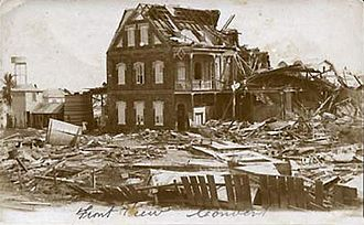 1931 Belize hurricane - Convent in Belize City after the hurricane