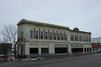 National Register of Historic Places listings in Oneida County, Idaho - Image: Coop and Bank Malad Idaho