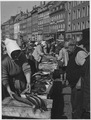 Copenhagen, Denmark. Copenhagen's colorful fish market is on Strandan Canal. The retail fish sellers, usually women... - NARA - 541664.tif