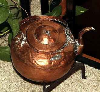 Kettle - 18th century copper kettle from Norway.