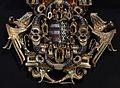Coppia di bottoni da mantello dorato con lo stemma di luigi I d'ungheria, post 1370, 04.jpg