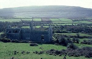 Battle of Lough Raska - Corcomroe Abbey and surrounding landscape