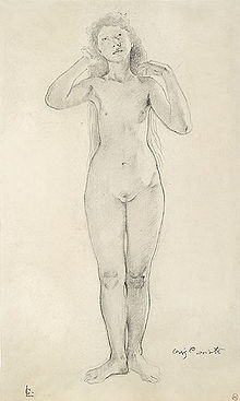 female nude drawing Celebrity