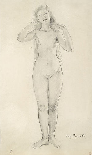 Figure drawing - Figure drawing by Lovis Corinth. Before 1925