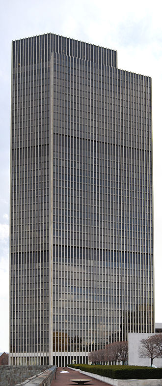 Erastus Corning Tower - A view of the Corning Tower from the north