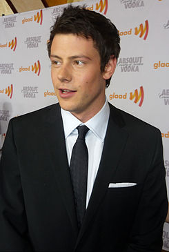Cory Monteith at GLAAD Awards.jpg