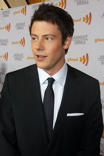 Cory Monteith at GLAAD Awards
