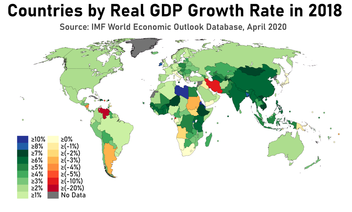 List Of Countries By Real Gdp Growth Rate Wikipedia