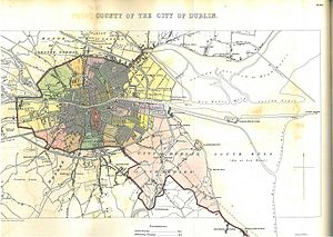 The Liberties, Dublin - Image: County of the City of Dublin 1837 map