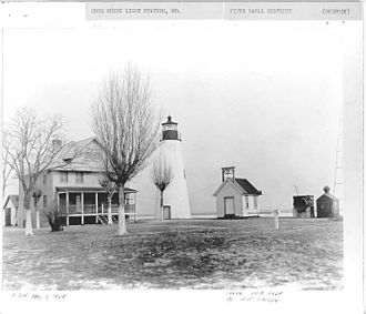 Cove Point Light - Image: Cove Point Light USCG 3
