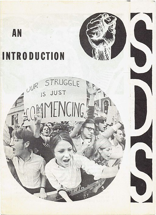 Cover of SDS pamphlet circa 1966