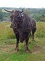 Cow Sculpture at Botanical Garden, Wales - geograph.org.uk - 1446972.jpg